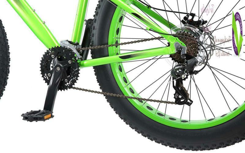 "Mongoose Juneau 26"" Fat Tire Bicycle Green, Medium Frame Size"