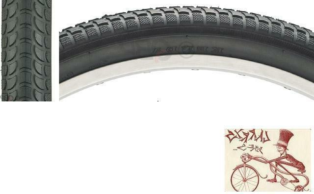 "KENDA K927 CRUISER 26"" X 2.125"" BLACK WIRE BEAD BICYCLE TIRE"