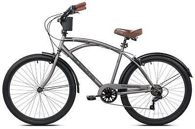 "NEW 26"" Mens Kent Bayside 7 Bicycle Shimano Frame Rod Cruiser"