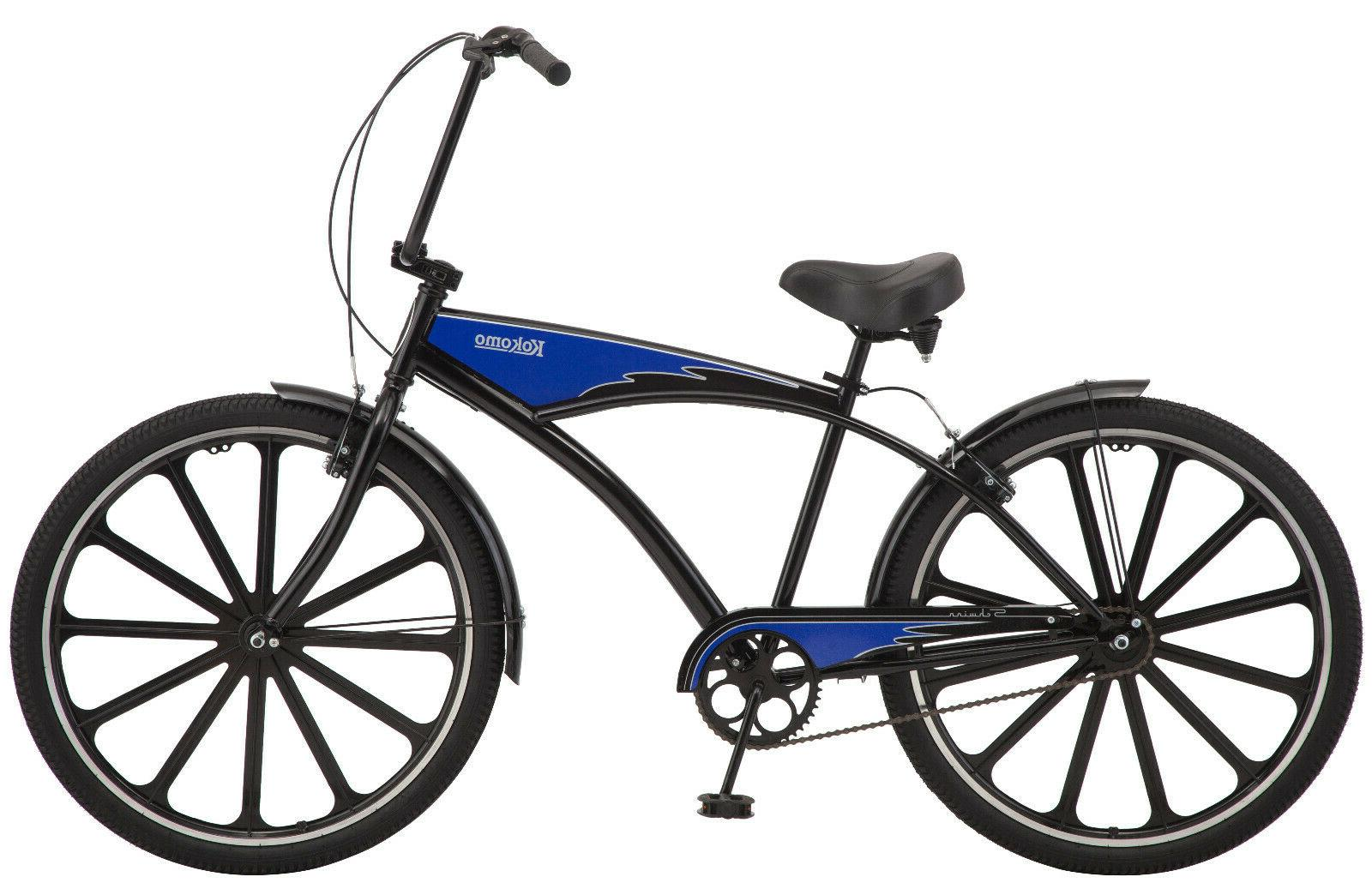 kokomo 27 5 cruiser bike black blue