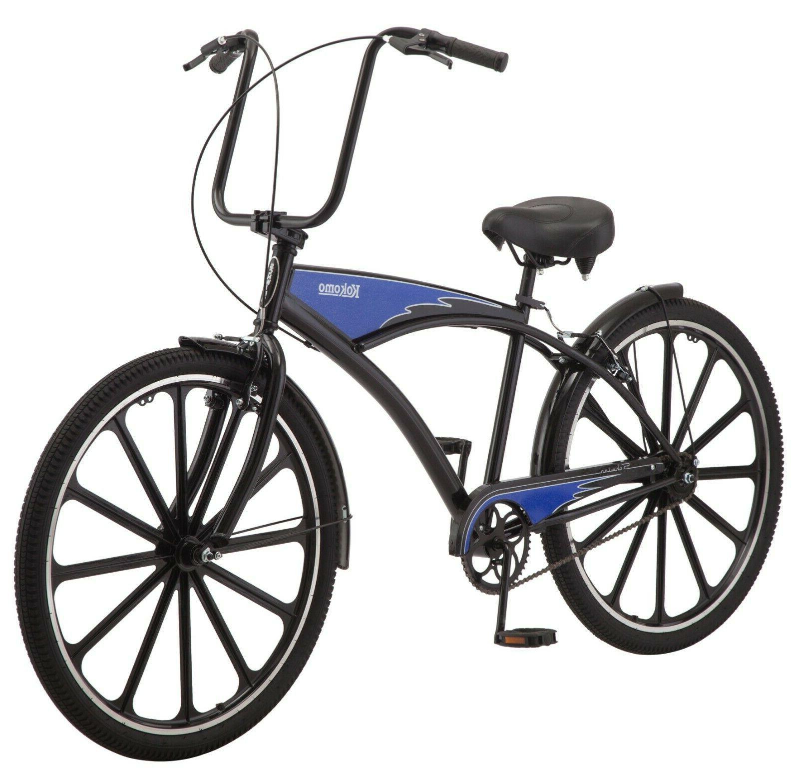 New Original Men Cruiser Bike Black Blue Bicycle Sport Speed