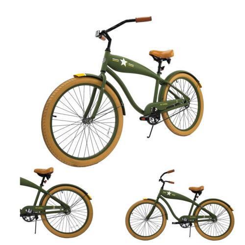 Men's Retro Cruiser Bicycle - Army Green