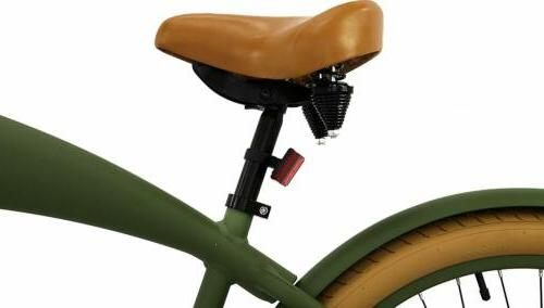Retro Cruiser Bicycle - Army Green