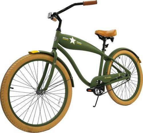 26-Inch Liberator Retro Cruiser Bicycle - Army