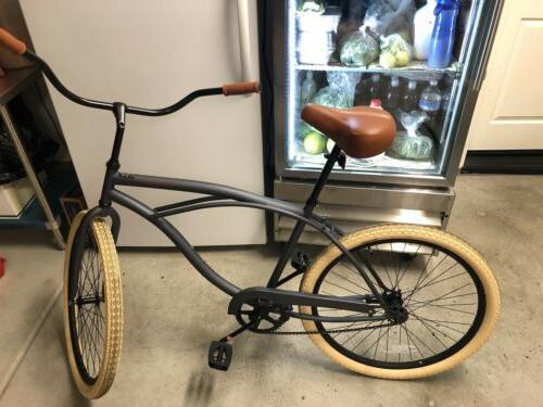 Retrospec beach cruiser bike, Chatham orange, brand