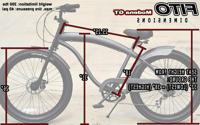 Fito Alloy Men's Beach Cruiser Bike
