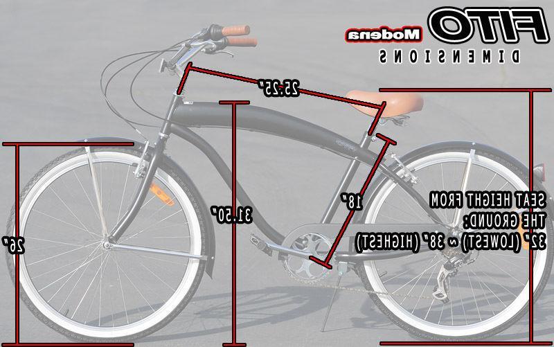 """Fito II 7-speed Black/Brown, 26"""" Beach Cruiser Bike"""
