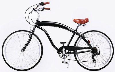 Fito Sport 7-speed - All Black, Men's Cruiser Bike