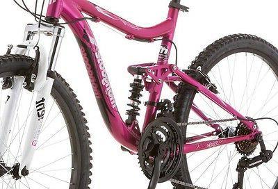 "Mongoose Mountain Bike 24"" Pink Girl Aluminum Ride Shimano New!"