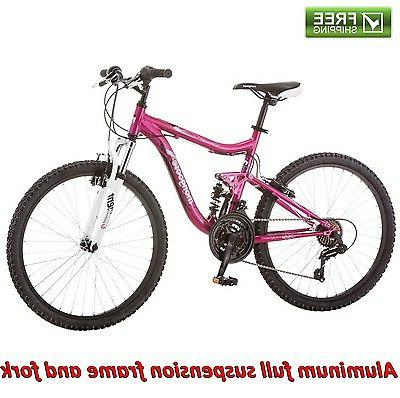 mountain bike 24 pink girl aluminum trail