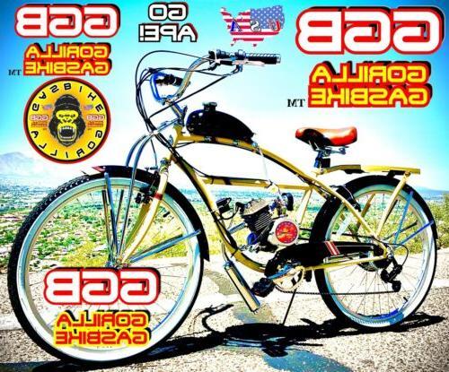 "NEW 2-STROKE 66cc/80cc  MOTORIZED BIKE KIT AND 26"" DELUXE"