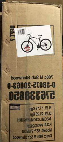 NEW Schwinn 700C Glenwood Mens Hybrid Bike - Black 21 Speed
