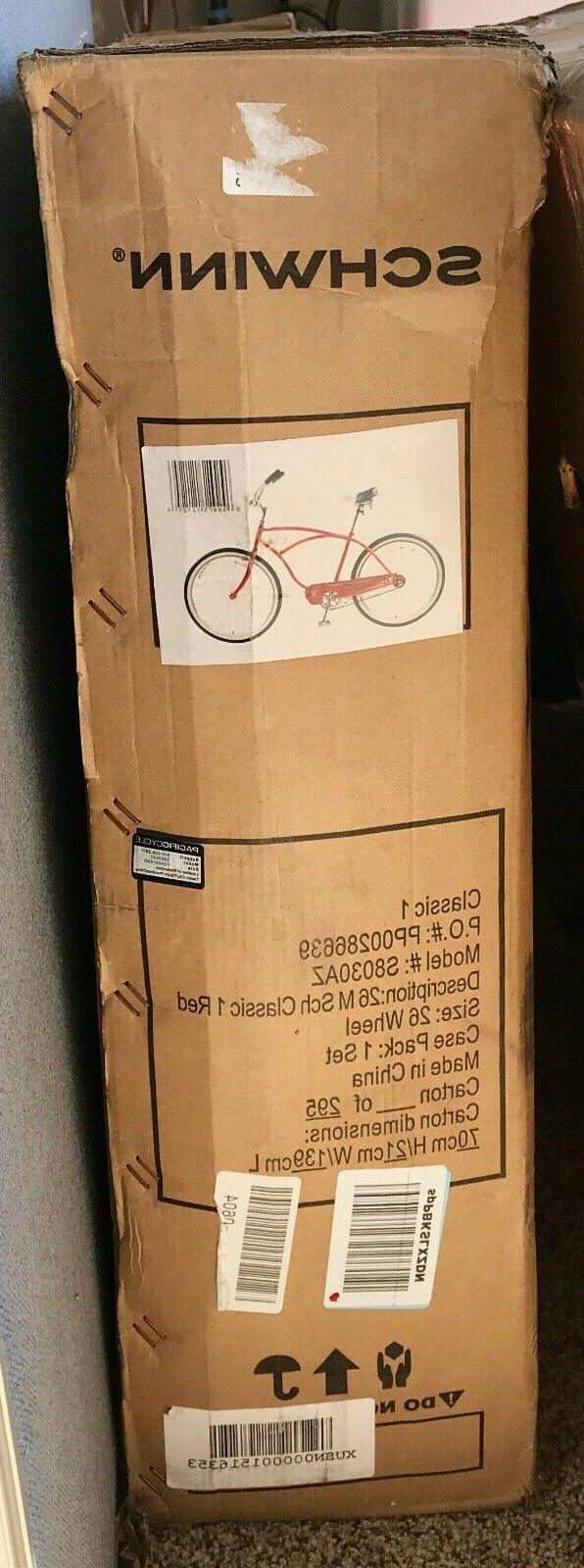 "NEW IN Men's Classic 1 Wheel Cruiser Bicycle, Red, 14""/Medium"