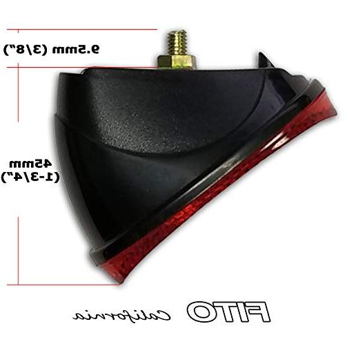 Fito Oval Reflector rear fender mudguard