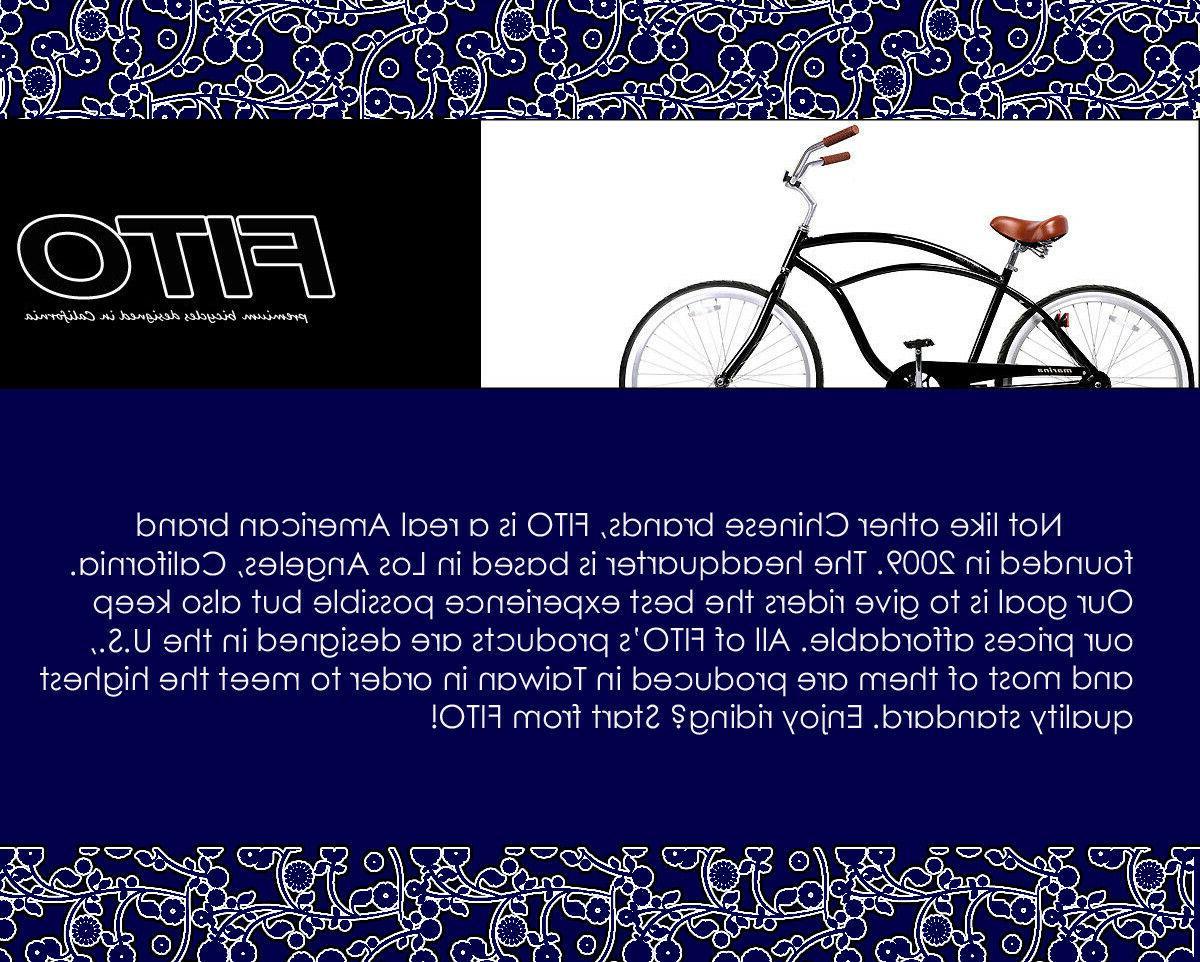 FITO SEAT CRUISER COMFORT ELECTRIC BIKE BLACK/WHITE
