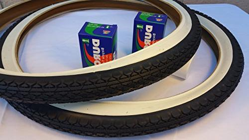 Pair Diamond White Wall Tires Two Bicycle Inner for