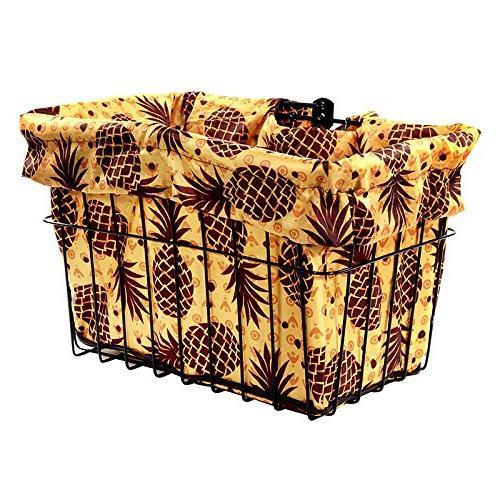 pineapples bicycle basket liner