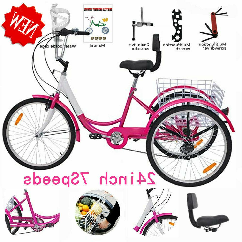 Adult Tricycle Men&Women Beach Cruiser Trike Pedal 3Wheel Bi