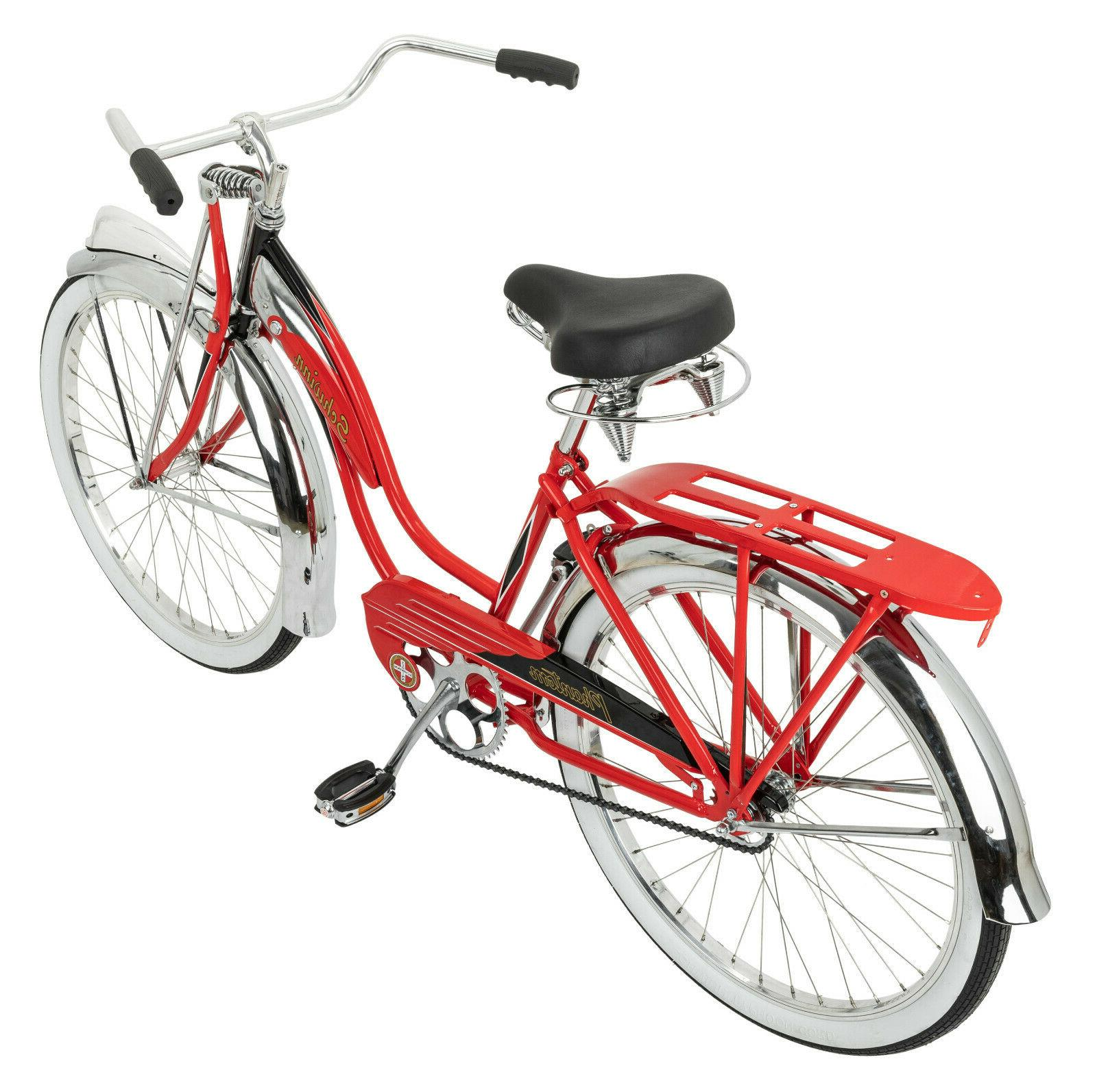 Schwinn Red Phantom Cruiser Bike, wheels