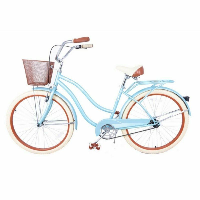 """Royal London Retro 18"""" Ladies Cruiser Bike With Basket"""