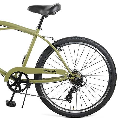 Retrospec Chatham Cruiser, Seven Speed, Matte Miltary Green