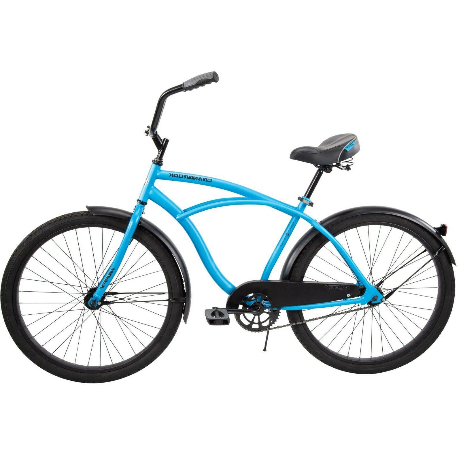 """Huffy 26"""" Cranbrook Men's Comfort Cruiser Bike, Matte Blue f"""