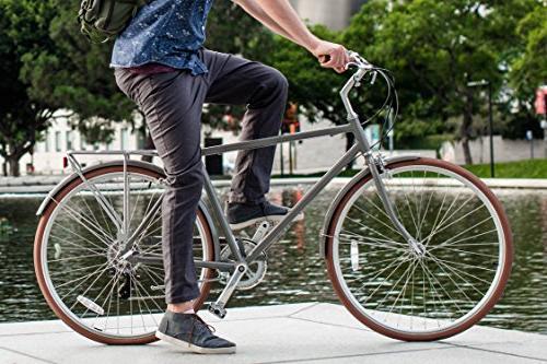 sixthreezero Park Men's 7-Speed Road Bicycle, Grey, Frame/700x32c Wheels