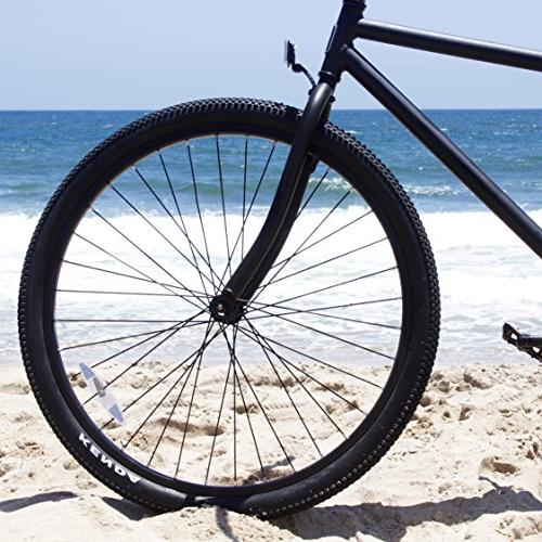 Firmstrong Black Men's Single Speed Beach Bicycle, Matte Black