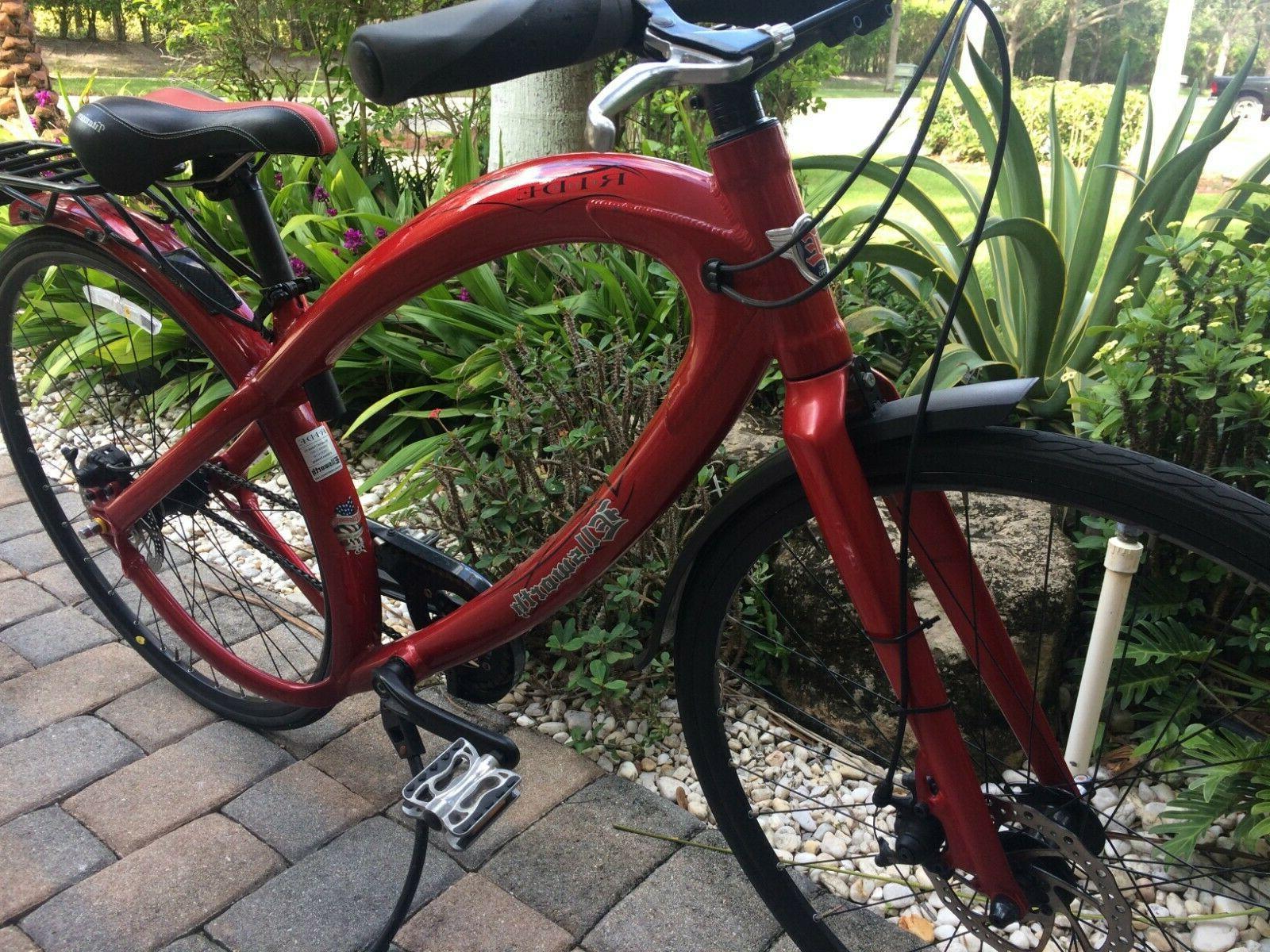 Ellsworth's Ride in Red bike patented