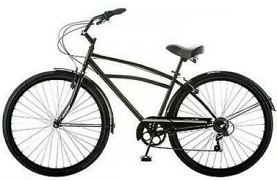 Schwinn Cruiser Bike Black Comfort Men's Bicycle City Ride NEW