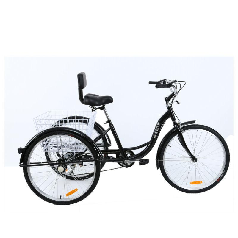 """7-Speed Adult 26"""" 3-Wheel Tricycle Aluminum Frame 3"""