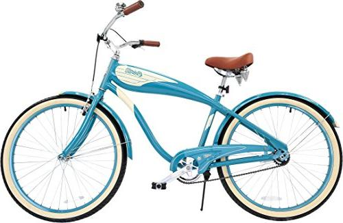 Columbia Superb Star, 26-Inch Men's Retro Beach Cruiser Teal