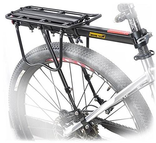West Biking Almost Adjustable Stand Footstock Luggage Carrier Logo