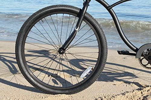 Firmstrong Man Alloy Single Beach Bicycle, 26-Inch, Matte Black