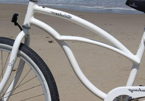 Firmstrong Urban Alloy Single Speed Beach Bicycle, 26-Inch, White