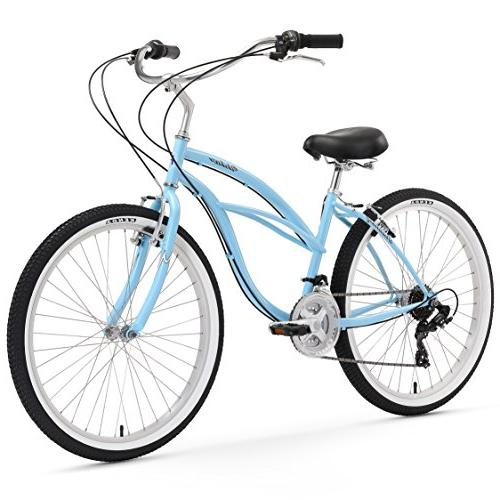 urban lady beach cruiser bicycle