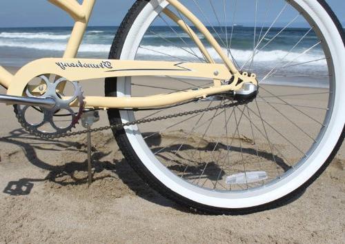 """Beachbikes Girl's 24"""" 3 Speed Cruiser"""