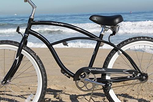 "Firmstrong Single Speed, Black Men's 24"" Beach Bike"