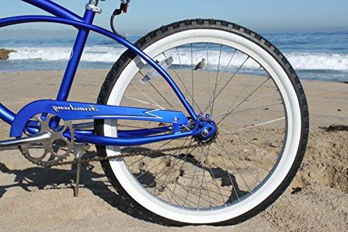 Firmstrong Urban Man Single Speed Beach Cruiser Bicycle, 24-Inch, Royal