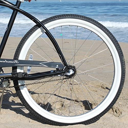 Firmstrong Man Three Speed Beach Cruiser 26-Inch,