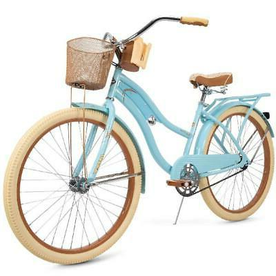 Vintage 26 Bike Retro Turquoise Basket