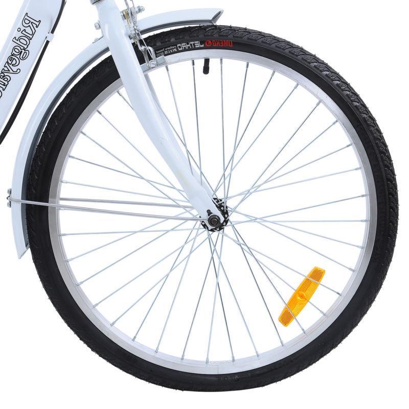 White 3-Wheel 7 Speed Trike w/Backrest