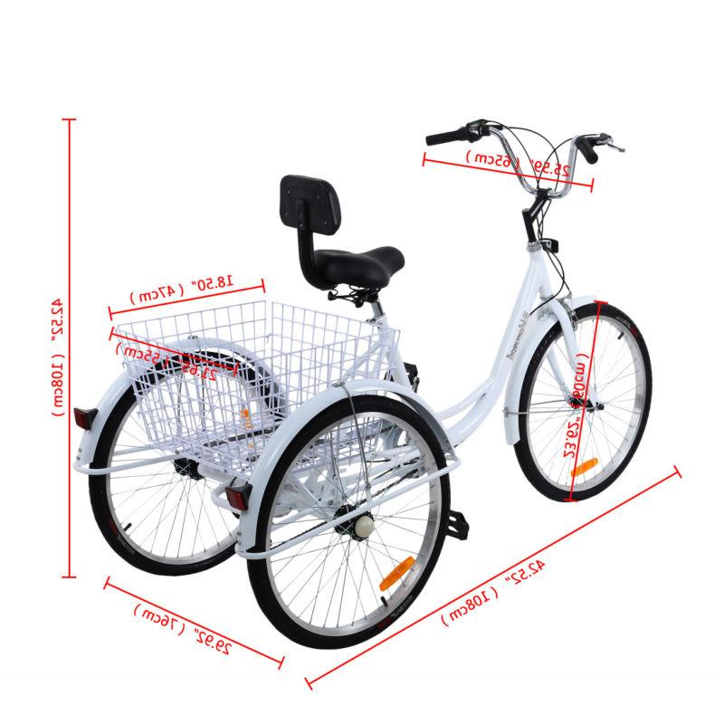 White 3-Wheel Trike