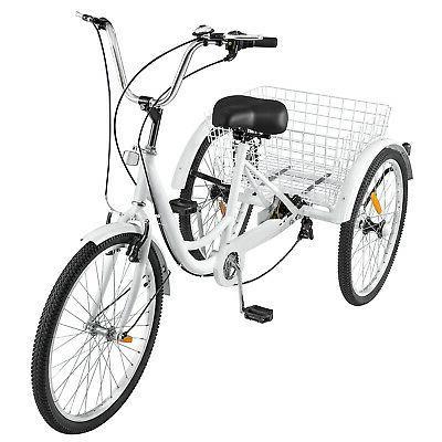 White Trike w/ Basket
