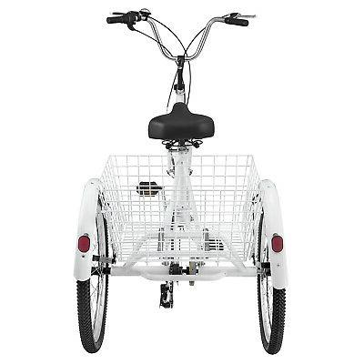 """Adult Tricycle 26"""" 7 White w/"""