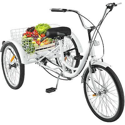 white 26 adult tricycle 3 wheel 7