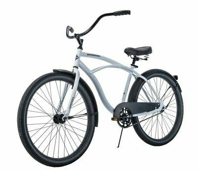 white cruiser bike 26 men traditional comfort