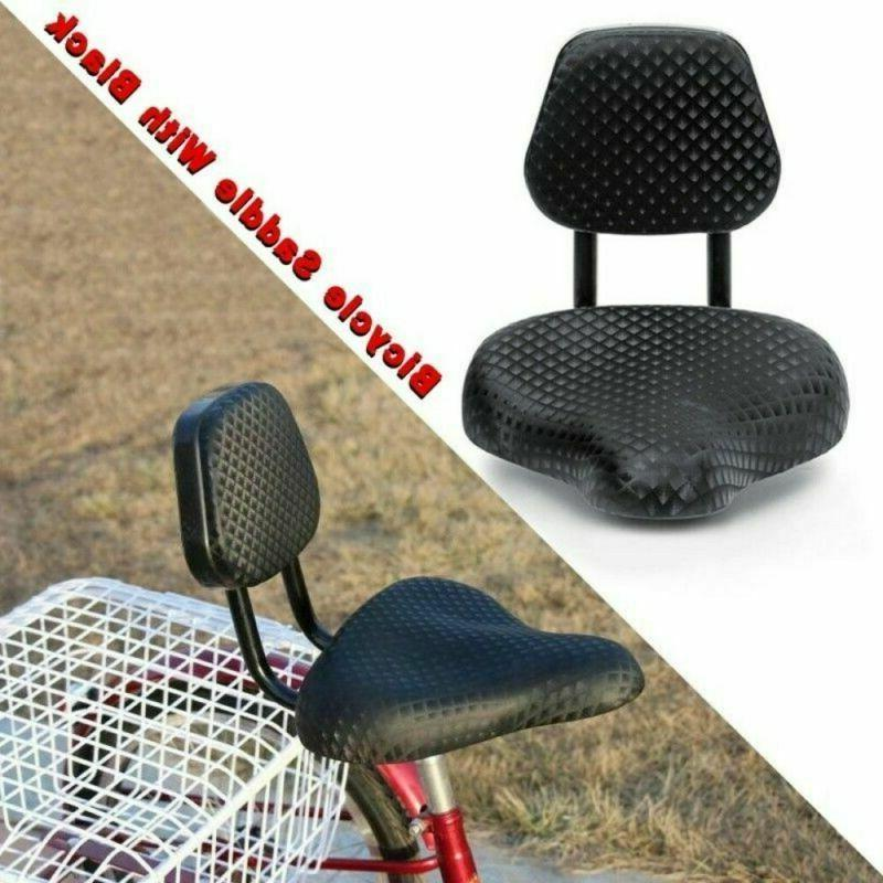 Wide Comfort Bicycle Saddle Black
