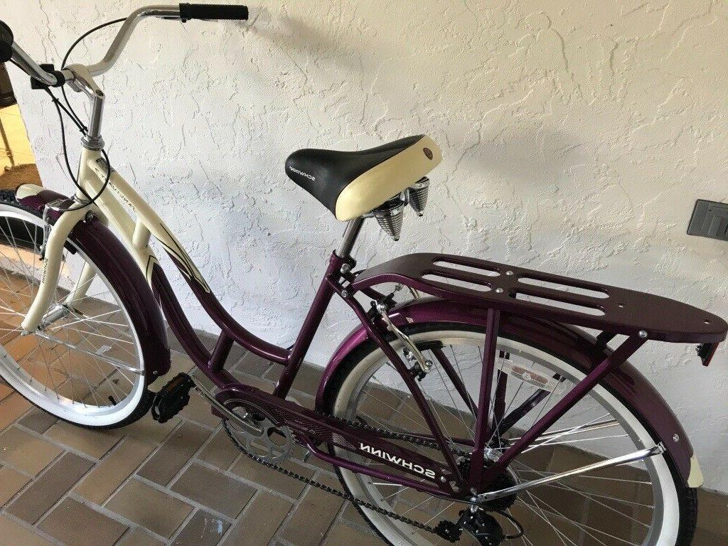 Schwinn Women's Cruiser Cream/Purp...