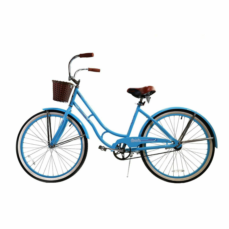 "Womens Columbia  Beach Cruiser Bike 26"" Vintage Bicycle Bask"